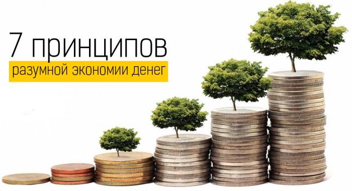7 принципов  разумной экономии денег